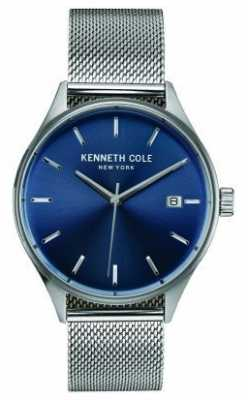 Kenneth Cole Mens Stainless Steel Mesh Blue Dial KC10030837