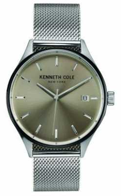 Kenneth Cole Mens Stainless Steel Mesh Grey Dial KC10030838