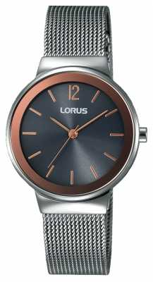 Lorus Womens Stainless Steel Mesh Black Dial RG251LX9