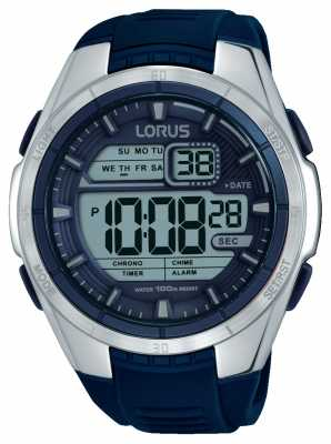 Lorus Mens Chronograph Alarm Stainless Steel Case R2315LX9