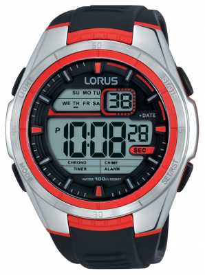 Lorus Mens Alarm Chronograph Stainless Steel Case R2313LX9