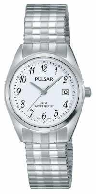 Pulsar Womens Stainless Steel Bracelet White Dial PH7443X1