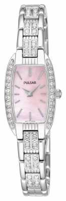 Pulsar Womens Stainless Steel Bracelet Pink Mother Of Pearl Dial PEGG75X1