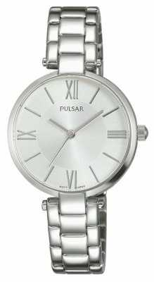Pulsar Womens Stainless Steel Bracelet Silver Dial PH8237X1