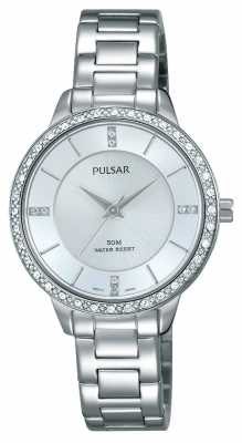 Pulsar Womens Stainless Steel Bracelet Silver Dial PH8213X1