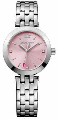 Juicy Couture Womens Cali Stainless Steel Bracelet Pink Dial 1901458