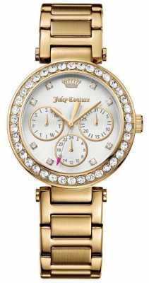 Juicy Couture Womens Cali Gold Tone Stainless Steel White Dial 1901504