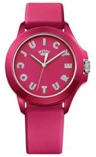 Juicy Couture Womens Fergie Pink Rubber Strap Pink Dial 1901465