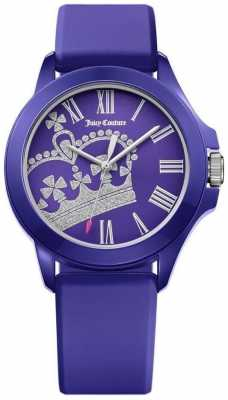 Juicy Couture Womens Fergie Blue Rubber Strap Blue Dial 1901466