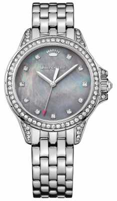 Juicy Couture Womens Malibu Stainless Steel Grey Mother Of Pearl Dial 1901491