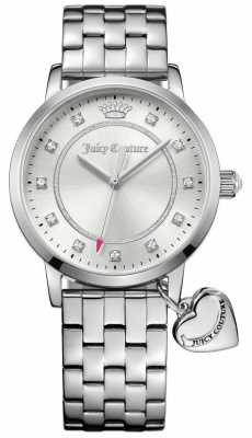 Juicy Couture Womens Socialite Stainless Steel Bracelet Silver Dial 1901474