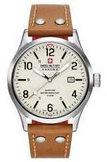 Swiss Military Hanowa Mens Undercover Tan Leather Strap Cream Dial 6-4280.04.002.02