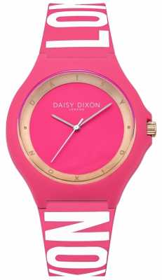 Daisy Dixon Womens Pink Rubber Strap Pink Dial DD040P