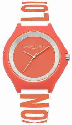 Daisy Dixon Womens  Coral Rubber Strap Coral Dial DD040O