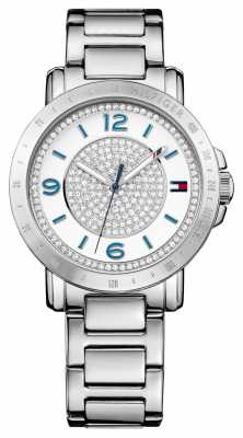 Tommy Hilfiger Womens Liv Stainless Steel Bracelet Silver Dial 1781622