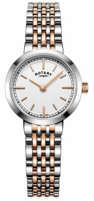 Rotary Womens Canterbury Two Tone White Dial LB05061/02