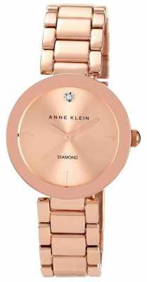 Anne Klein Womens Rose Gold Tone Bracelet Rose Gold Dial AK/N1362RGRG
