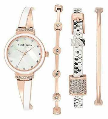 Anne Klein Womens Rose Gold Tone Mother Of Pearl Dial AK/N2342RWST