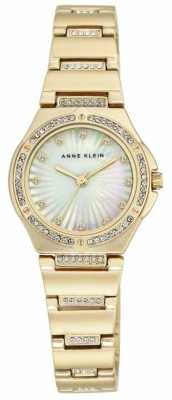 Anne Klein Womens Gold Tone Bracelet Mother Of Pearl Dial AK/N2416MPGB