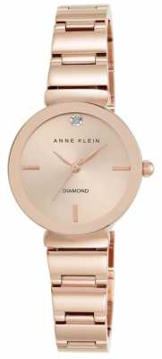 Anne Klein Womens Rose Gold Tone Bracelet Rose Gold Dial AK/N2434RGRG