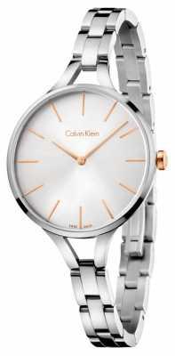Calvin Klein Womens Graphic Stainless Steel Bracelet K7E23B46