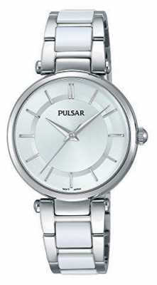 Pulsar Womans Stainless Steel And White Watch PH8191