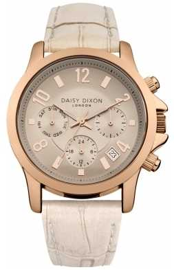 Daisy Dixon Womens Adriana Nude Leather Strap Rose Gold DD002CRG