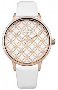Daisy Dixon Womens Penny White Leather Strap Rose Gold DD034WRG