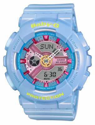Casio Baby-G Blue Resin Strap Digital BA-110CA-2AER