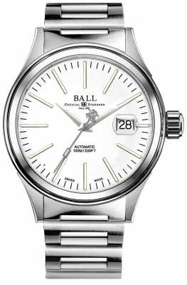Ball Mens Fireman Enterprise Auto Stainless Steel Bracelet NM2188C-S5J-WH