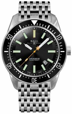 Ball Mens Engineer Master II SkinDiver II Automatic Chronometer DM3108A-SCJ-BK
