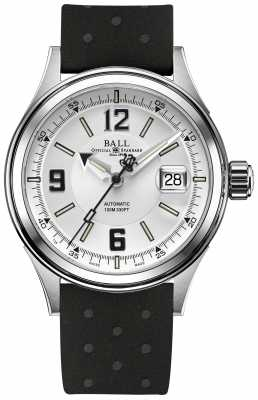 Ball Watch Company Fireman Racer Automatic Rubber Strap White Dial NM2088C-P2J-WHBK