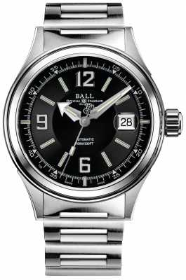 Ball Fireman Racer Automatic Stainless Steel Bracelet Black Dial NM2088C-S2J-BKWH
