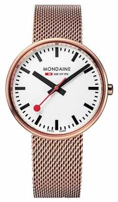 Mondaine Unisex Mini Rose Gold Mesh Bracelet A763.30362.22SBM