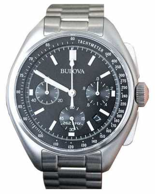 Bulova Mens Special Edition Moon Chronograph Stainless Steel 96B258