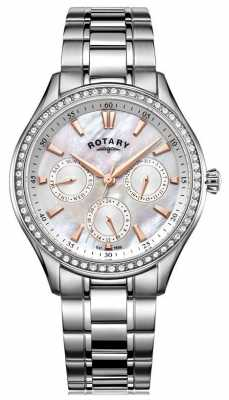 Rotary Womans Hampstead Stainless Steel Mother Of Pearl LB05056/07