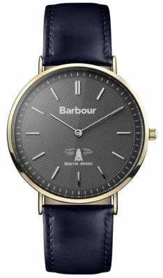 Barbour Mens Hartley Black Dial Black Leather Strap BB055GDBL