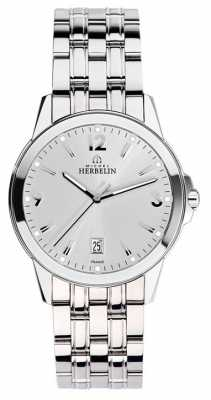 Michel Herbelin Mens Stainless Steel City Silver 12250/B12