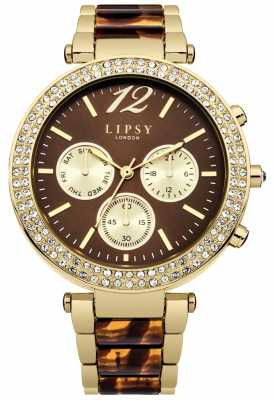 Lipsy Womans Pale Gold And Tortoise Shell Strap LP467
