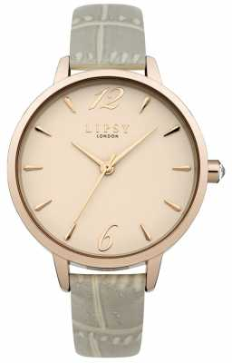 Lipsy Womans Grey Rubber Strap Pale Dial LP485