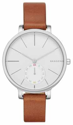 Skagen Womans White Dial Leather Strap SKW2434