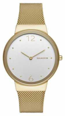 Skagen Womans Stainless Steel Gold Plated Mesh Strap SKW2519