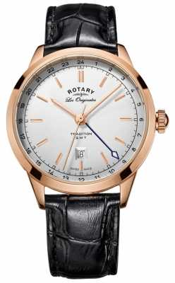 Rotary Mens Les Originales Leather Strap Rose Gold Case GS90183/02