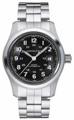 Hamilton Mens Khaki Field Auto Open Back Automatic Sapphire Glass H70515137