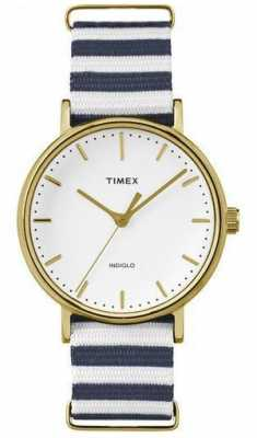 Timex Weekender Fairfield Mid-Size Blue/White TW2P91900D7PF