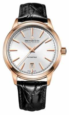 Dreyfuss 1890 Men's Rose Gold Watch With An Imitation Leather Str DGS00162/02