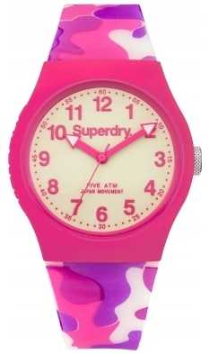 Superdry Urban Glow In Dark Camo Pink Silicone SYG178P