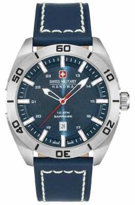 Swiss Military Hanowa Champ Blue Leather Strap 6-4282.04.003