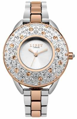 Lipsy Womans Silver And Rose Gold Jewelled LP476