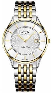 Rotary Gnts 2 Tone Bracelet ultra slim GB90801/02